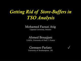 Getting Rid of Store-Buffers in TSO Analysis