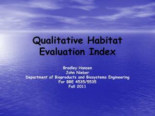 Qualitative Habitat Evaluation Index