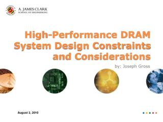 High-Performance DRAM System Design Constraints and Considerations