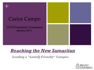 Reaching the New Samaritan