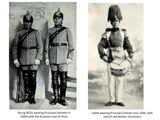 Young NCOs wearing Prussians helmets in 1920s with the Prussian Coat of Arms