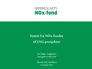 NOx-avgift og Milj�avtalen til 2017