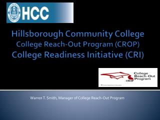 Warren T. Smith, Manager of College Reach-Out Program