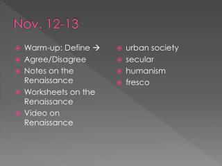 Nov. 12-13