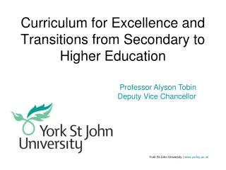 Curriculum for Excellence and Transitions from Secondary to Higher Education