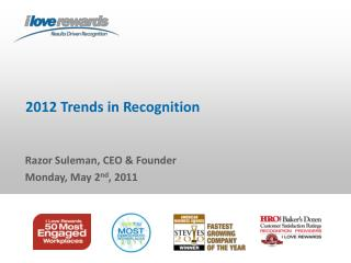 2012 Trends in Recognition