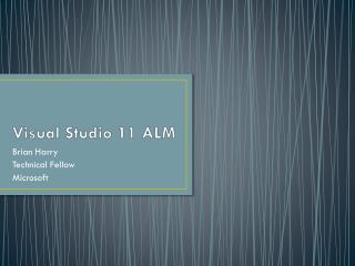 Visual Studio 11 ALM