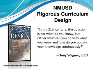 NMUSD Rigorous Curriculum      Design