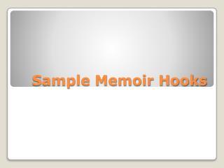 Sample Memoir Hooks