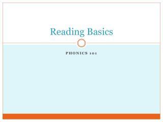 Reading Basics