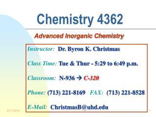 Chemistry 4362