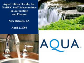 Aqua Utilities Florida, Inc. NARUC Staff Subcommittee on Accounting and Finance  New Orleans, LA  April 2, 2008