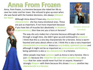 Princess Anna of  A rendale
