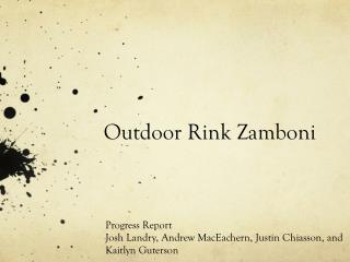 Outdoor Rink Zamboni