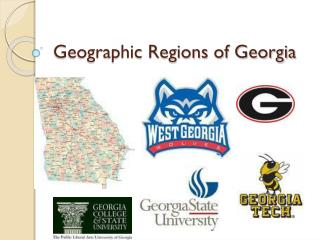 Geographic Regions of Georgia