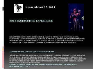 Kosar Abbasi  ( Artist )