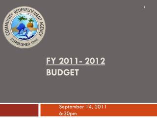 FY 2011- 2012 BUDGET