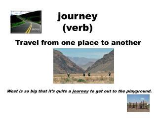 journey (verb)