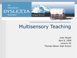 Multisensory Teaching