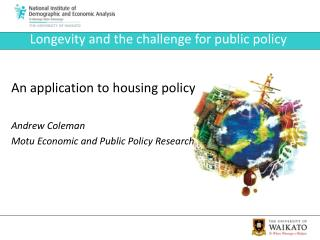 Longevity and the challenge for public policy