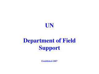 Department of Field Support