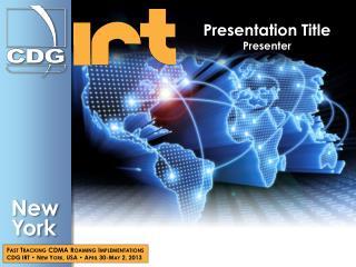 Presentation Title Presenter