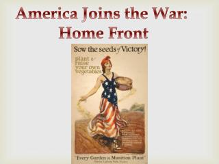 America Joins the War:  Home Front