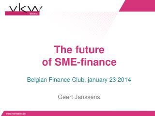 The future  of SME-finance