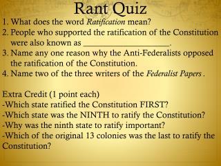 Rant Quiz