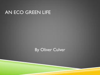 An Eco Green Life