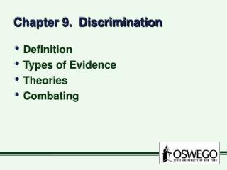 Chapter 9.  Discrimination