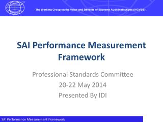 SAI Performance Measurement Framework