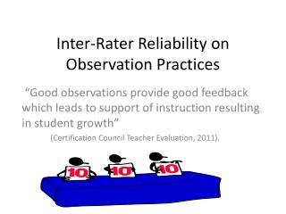 Inter-Rater Reliability on Observation Practices