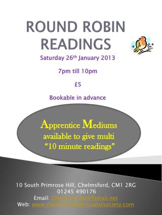 ROUND ROBIN READINGS