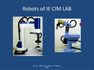 Robots of IE CIM LAB
