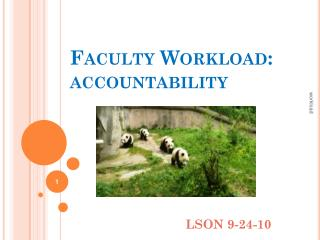 Faculty Workload:  accountability