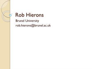 Rob Hierons