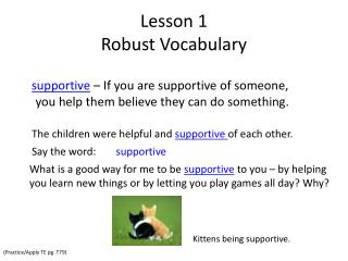 Lesson 1 Robust Vocabulary