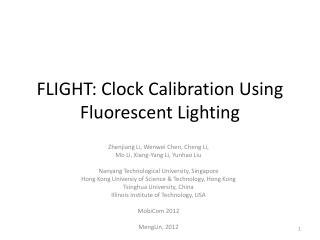 FLIGHT: Clock Calibration Using Fluorescent Lighting
