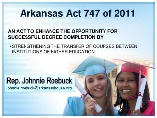 Arkansas Act 747 of 2011