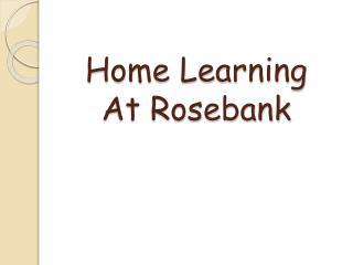Home Learning At Rosebank