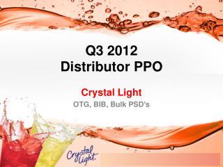 Q3 2012  Distributor PPO