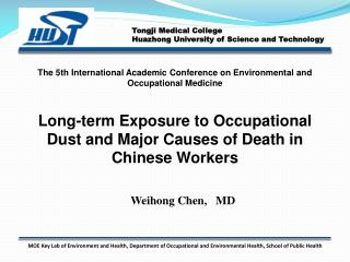 Long-term Exposure to Occupational Dust and Major Causes of Death in Chinese Workers
