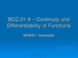 BCC.01.9   Continuity and Differentiability of Functions