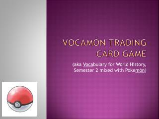 Vocamón  Trading card game