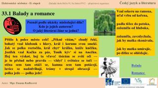 33.1 Balady a romance