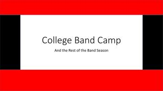 College Band Camp