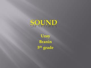 Uzay Branin 5 th  grade
