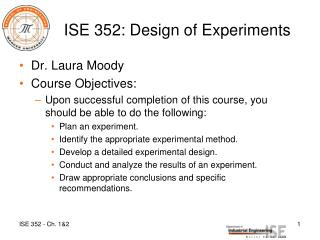 ISE 352: Design of Experiments