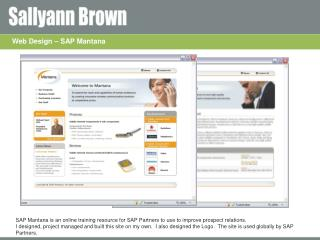 Web Design – SAP Mantana